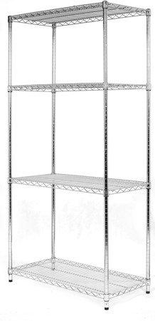 Regał Chrom 4-półki (36x122x182cm)